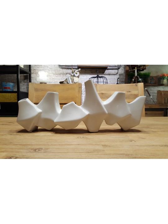 白色幾何花器
