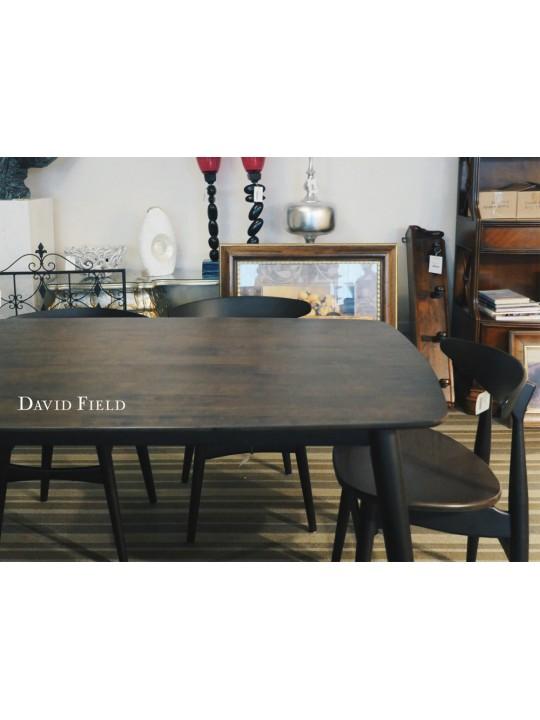 深黑實木餐桌椅