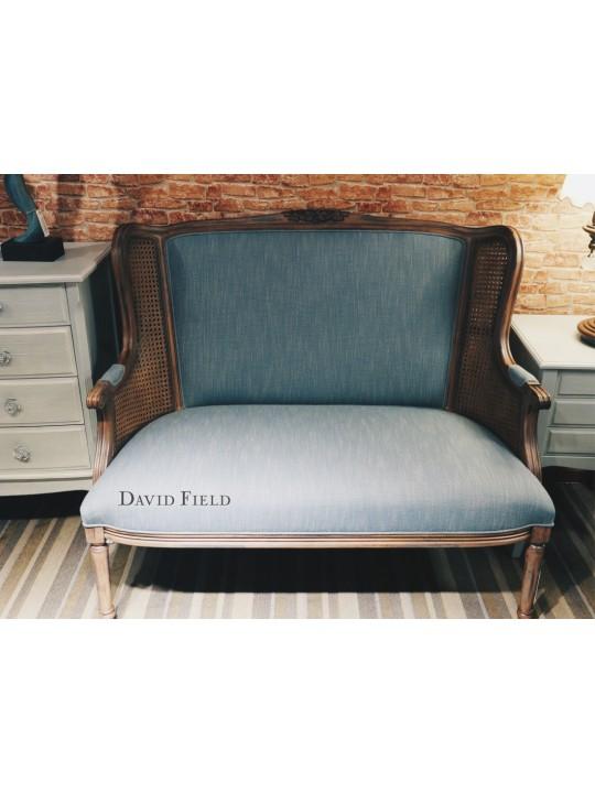 新古典刷藍雙人椅
