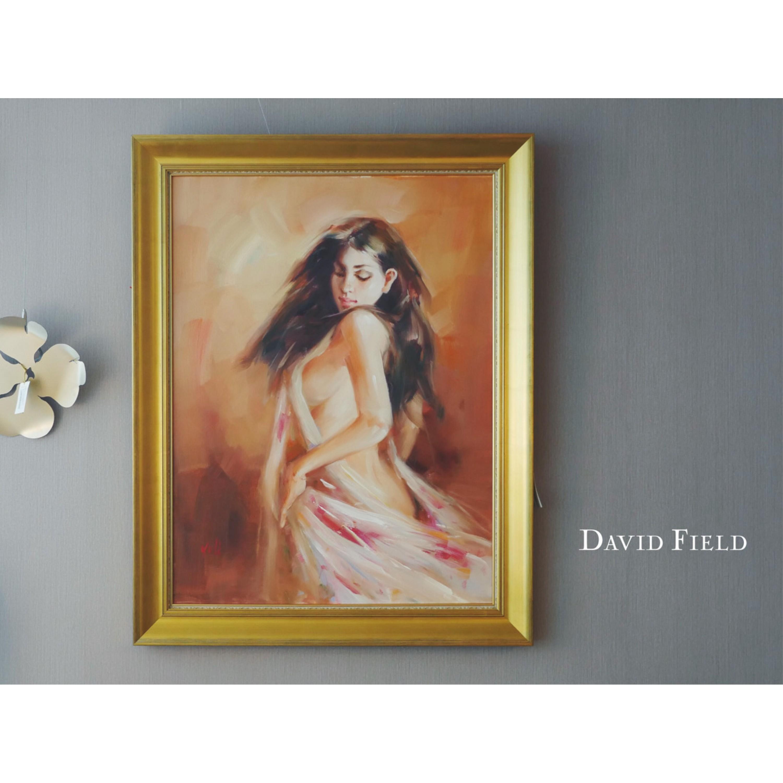 棕髮女郎-油畫