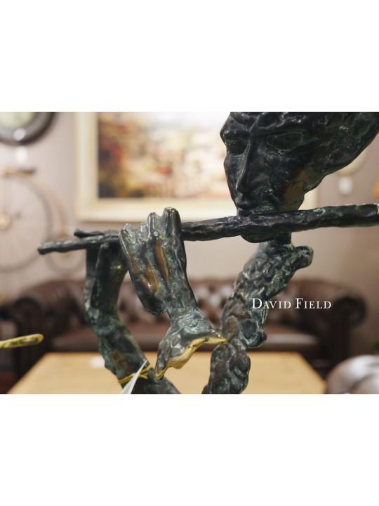銅雕-幻象長笛演奏者